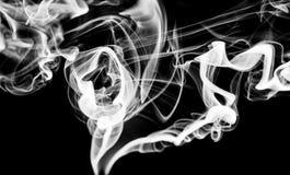 Abstrakcjonistyczny opar: bielu dym wiruje lub wygina się zdjęcia stock