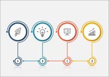 Abstrakcjonistyczny opci infographics szablon Infographics dla biznesowych prezentacj lub ewidencyjnego sztandaru Fotografia Royalty Free