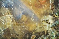 Abstrakcjonistyczny organicznie złoty brown biały hipnotyczny tło Zdjęcia Royalty Free