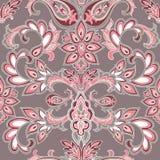 Abstrakcjonistyczny orientalny kwiecisty bezszwowy wzór Kwiatu geometryczny orna Fotografia Royalty Free
