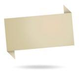 Abstrakcjonistyczny origami mowy bąbel od przetwarza papier Fotografia Stock