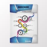 Abstrakcjonistyczny origami stylu broszurki szablon z biznesową ścieżką Ulotka układ elementy infographic również zwrócić corel i Zdjęcia Royalty Free