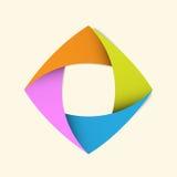 Abstrakcjonistyczny origami sztandaru tło. Zdjęcie Stock