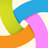 Abstrakcjonistyczny origami sztandaru tło. Zdjęcia Stock