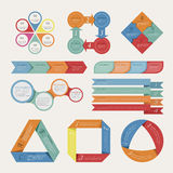 Abstrakcjonistyczny origami sztandaru tło Zdjęcia Stock
