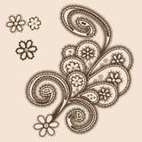Abstrakcjonistyczny ornament z paisleys Zdjęcia Royalty Free
