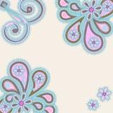 Abstrakcjonistyczny ornament z paisleys Zdjęcie Stock