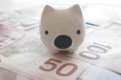 Abstrakcjonistyczny oszczędzanie pieniądze pojęcie Fotografia Stock