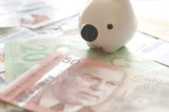 Abstrakcjonistyczny oszczędzanie pieniądze pojęcie Fotografia Royalty Free