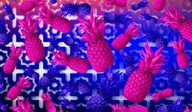 Abstrakcjonistyczny owocowy tło, ananas zdjęcia stock
