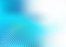 Abstrakcjonistyczny półprzezroczysty błękitny kropki fala tło Obraz Stock