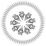 Abstrakcjonistyczny płatek śniegu geometryczni kształty Boże Narodzenia Znak błękitni płatki śniegu Wakacyjny projekt zdjęcia royalty free