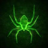 abstrakcjonistyczny pająk Fotografia Royalty Free