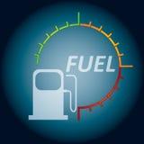 Abstrakcjonistyczny paliwowy wskaźnik Fotografia Royalty Free