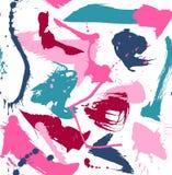 Abstrakcjonistyczny panit pluśnięć wzór kolorowy na bielu Zdjęcia Stock