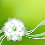 Abstrakcjonistyczny papierowy kwiat Fotografia Stock