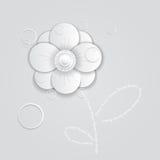 Abstrakcjonistyczny papierowy kwiat ilustracji
