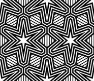 Abstrakcjonistyczny Pasiasty Wektorowy Bezszwowy wzór Obrazy Royalty Free