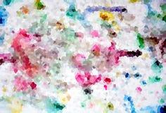 Abstrakcjonistyczny pastel kształtuje w kolorze żółtym, fiołku i błękitnych odcieniach, Fotografia Stock