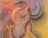 Abstrakcjonistyczny pastel Na papierze Zdjęcie Stock