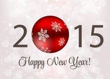 Abstrakcjonistyczny piękno 2015 nowy rok tło wektor Zdjęcie Stock