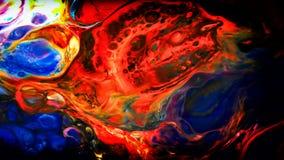 Abstrakcjonistyczny piękno sztuka atramentu farba wybucha kolorowego fantazi rozszerzanie się Obraz Stock