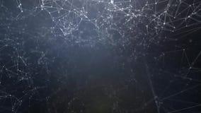 Abstrakcjonistyczny piękny geometryczny tło z liniami, kropkami i trójbokami chodzenia, zapas Plexus fantazi abstrakta technologi ilustracja wektor