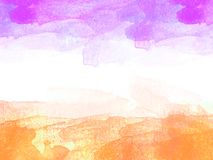 Abstrakcjonistyczny piękny Kolorowy akwarela obrazu tło, Kolorowy szczotkarski tło Zdjęcia Royalty Free