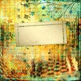 Abstrakcjonistyczny piękny tło w stylu mieszanych środków Zdjęcia Stock