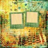 Abstrakcjonistyczny piękny tło w stylu mieszanych środków Obrazy Stock