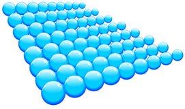 abstrakcjonistyczny piłek błękit wektor Zdjęcie Stock