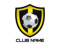 Abstrakcjonistyczny piłka nożna logo na białym tle ilustracja wektor