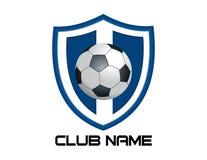 Abstrakcjonistyczny piłka nożna logo na białym tle royalty ilustracja