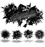 abstrakcjonistyczny piłek sztandaru set Obrazy Stock