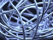 abstrakcjonistyczny piłki srebra drut Fotografia Royalty Free