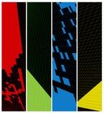 Abstrakcjonistyczny pionowo sztandar Obraz Stock