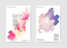 Abstrakcjonistyczny Plakatowy Ciekły tło Fluid Kształtuje broszurka szablon ilustracja wektor