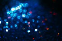 Abstrakcjonistyczny plamy światła bokeh, błękit i czerwień, Zdjęcia Stock