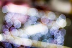 Abstrakcjonistyczny plamy bokeh zaświeca na mieście noc zdjęcia stock