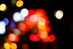 Abstrakcjonistyczny plamy bokeh zaświeca na mieście noc fotografia royalty free