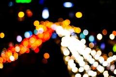 Abstrakcjonistyczny plamy bokeh zaświeca na mieście noc zdjęcia royalty free