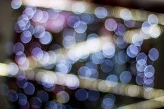 Abstrakcjonistyczny plamy bokeh zaświeca na mieście noc obrazy royalty free