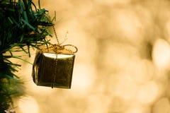 Abstrakcjonistyczny plamy choinki bokeh tło Zdjęcie Stock