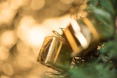 Abstrakcjonistyczny plamy choinki bokeh tło Zdjęcie Royalty Free