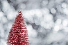 Abstrakcjonistyczny plamy choinki bokeh tło Zdjęcia Royalty Free