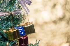 Abstrakcjonistyczny plamy choinki bokeh tło Fotografia Royalty Free