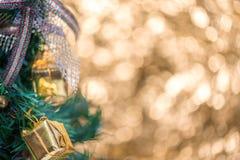Abstrakcjonistyczny plamy choinki bokeh tło Obraz Royalty Free