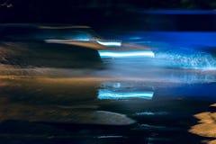 Abstrakcjonistyczny plamy nocy ruch drogowy w mieście Samochodowy ruch drogowy przy nocą Zdjęcie Stock