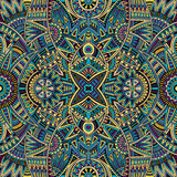 Abstrakcjonistyczny plemienny etniczny bezszwowy wzór Obraz Royalty Free