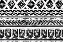 Abstrakcjonistyczny plemienny wzór Zdjęcie Stock